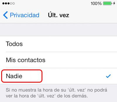 अपने iPhone पर WhatsApp करने के लिए अपने पिछले कनेक्शन के समय छुपाएँ करने के लिए कैसे - छवि 4 - प्रोफेसर-falken.com