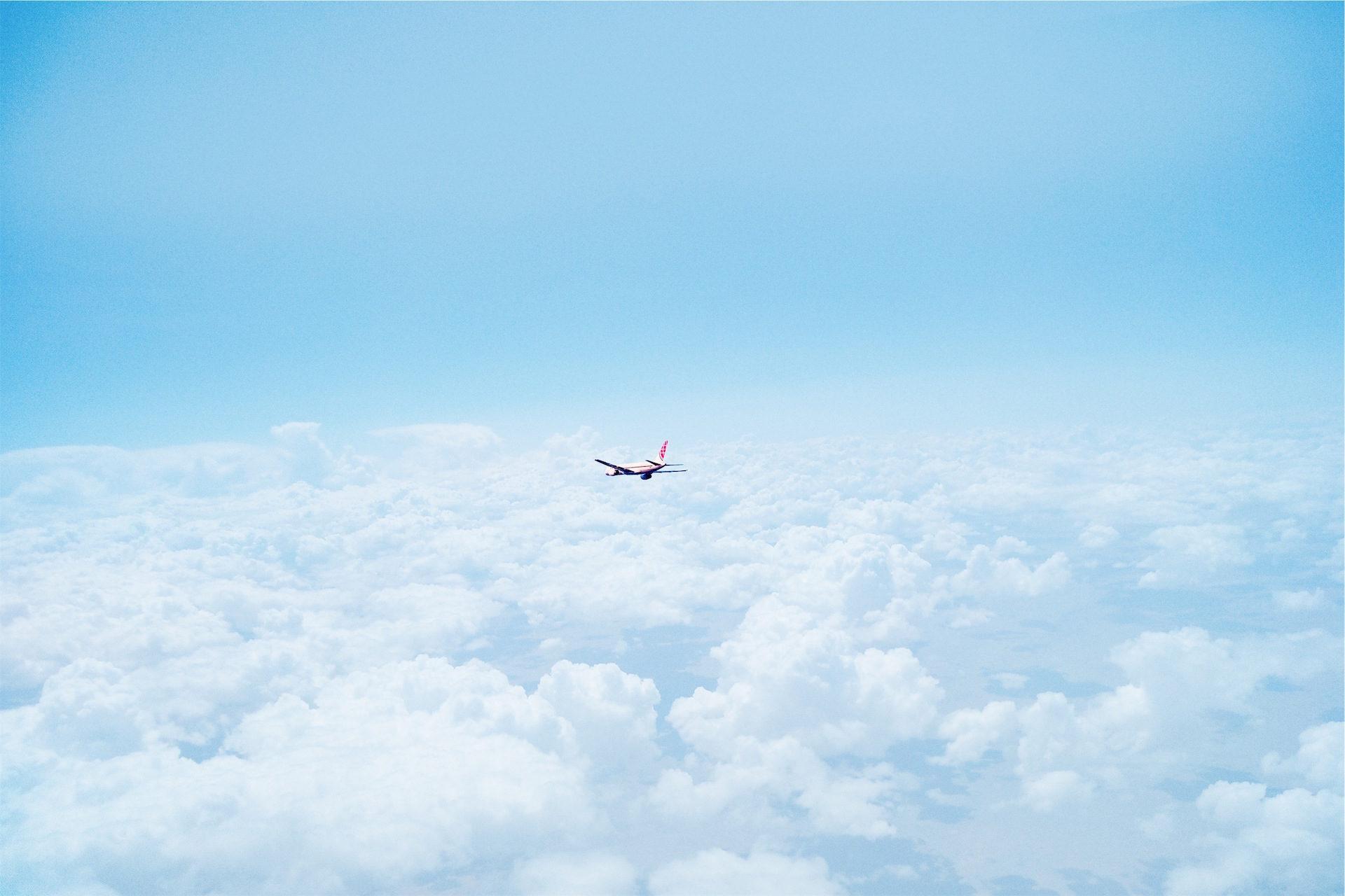 Avión, aria, nuvole, Cielo, Blu - Sfondi HD - Professor-falken.com