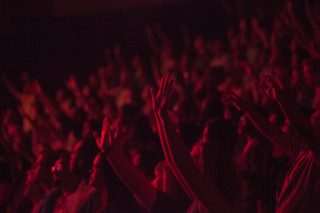concierto, música, espectáculo, espectadores, rojo, 1609141123