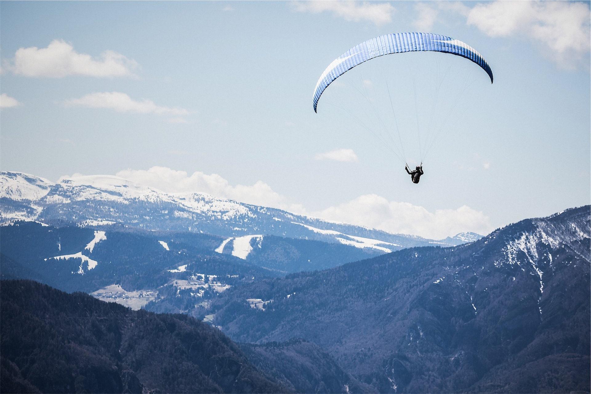paracaidismo, パラシュート, 飛ぶ, 山, 空 - HD の壁紙 - 教授-falken.com