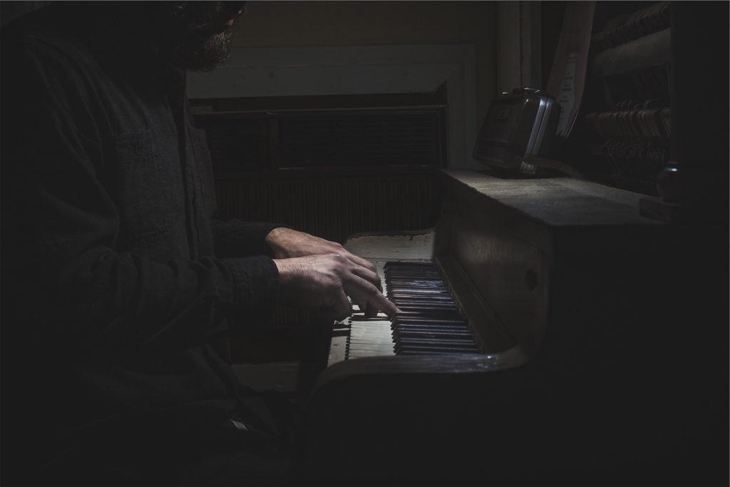 piano, viejo, hombre, músico, teclas, 1609260833