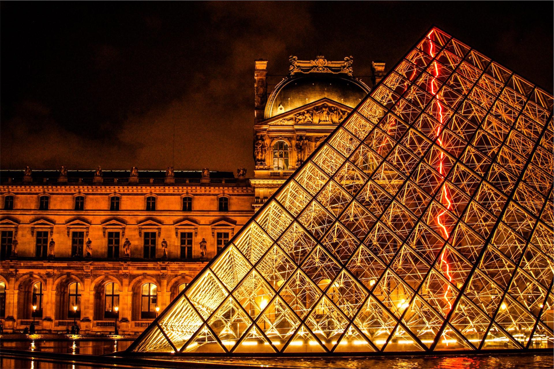 Πυραμίδα, Λούβρο, Μουσείο, Παρίσι, Γαλλία - Wallpapers HD - Professor-falken.com