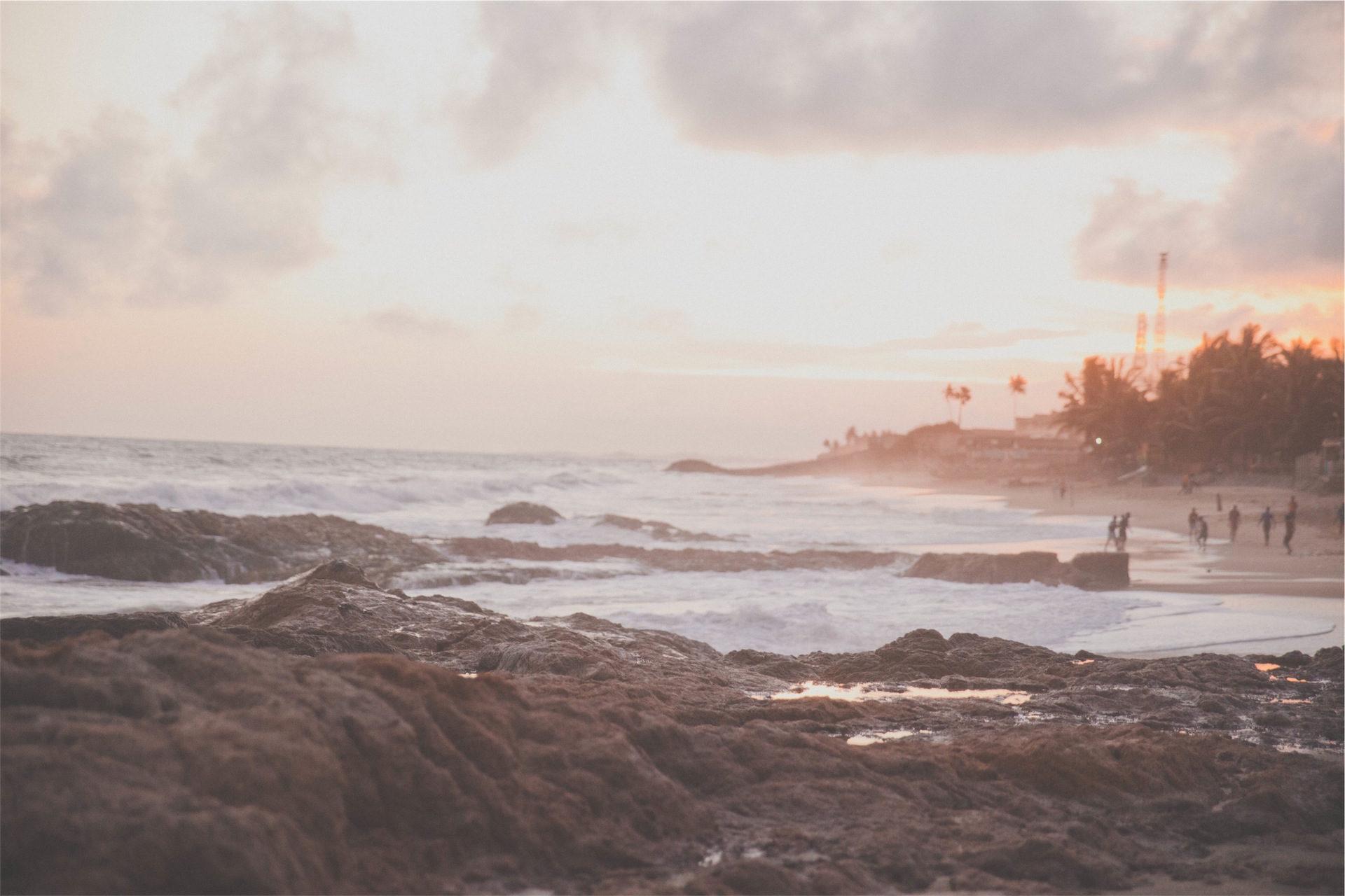 Rocas, Spiaggia, sabbia, rilassarsi, Tramonto - Sfondi HD - Professor-falken.com