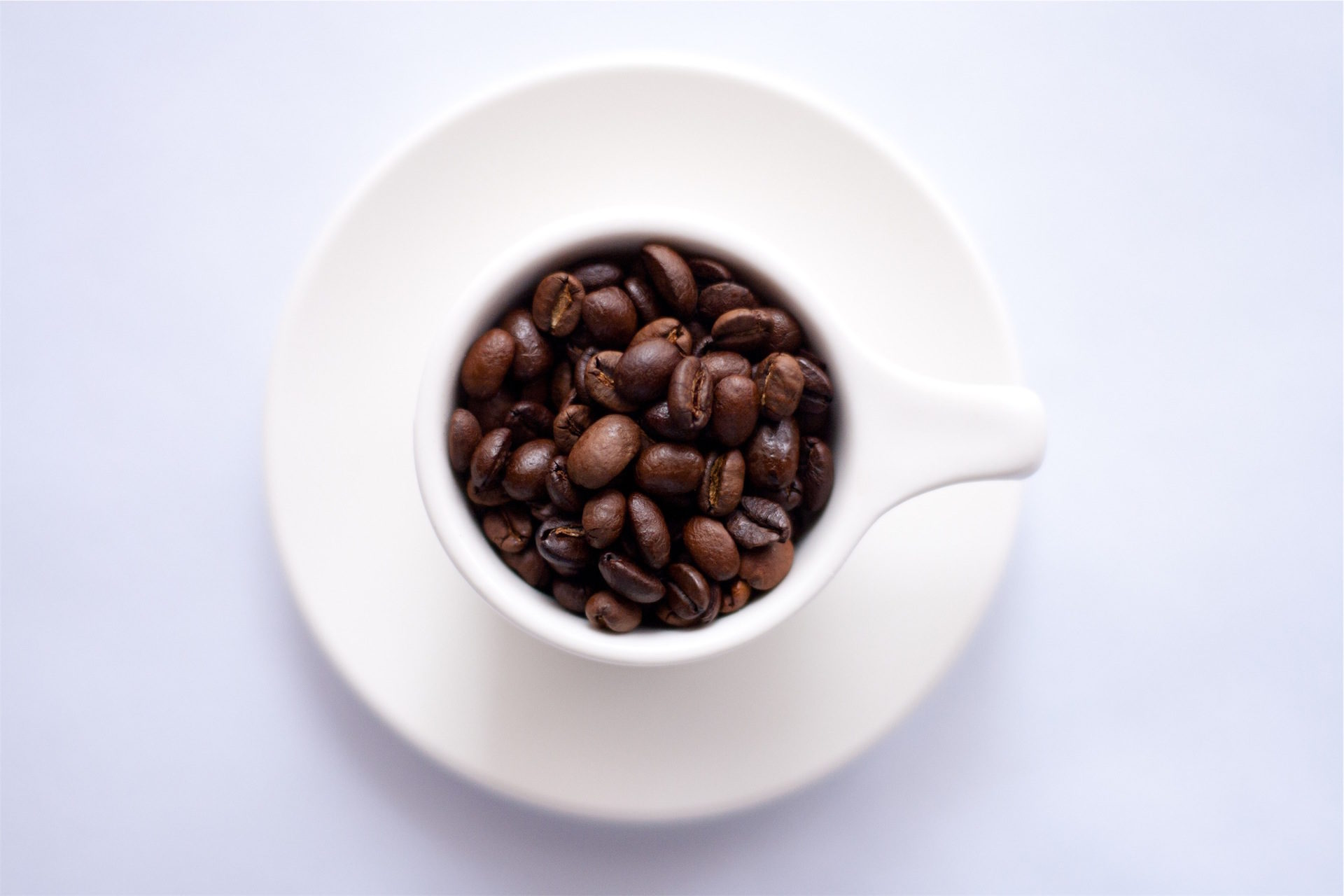 Copa, café, grãos, prato, Branco - Papéis de parede HD - Professor-falken.com