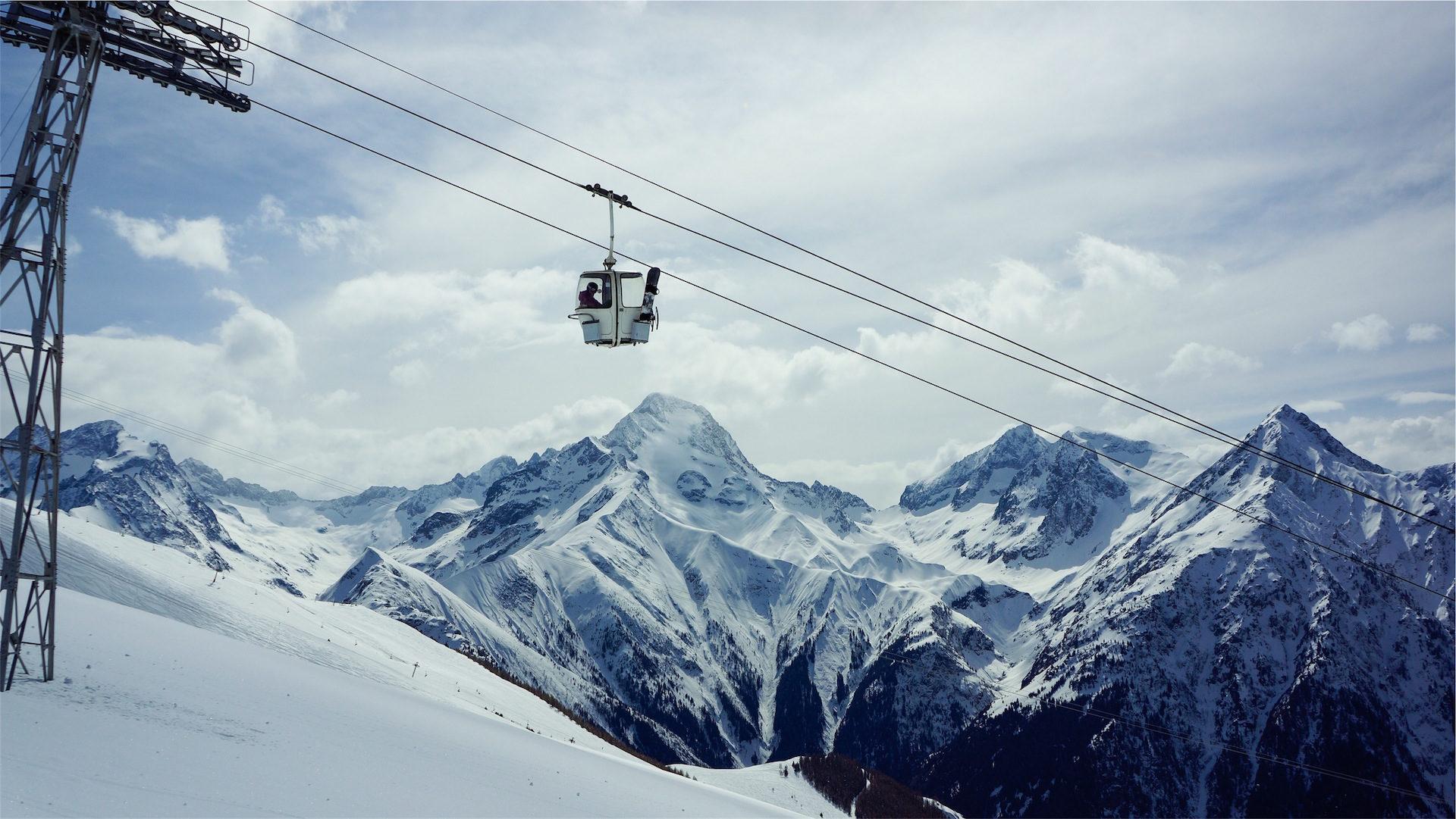 teleférico, montaña, nieve, picos, invierno - Fondos de Pantalla HD - professor-falken.com