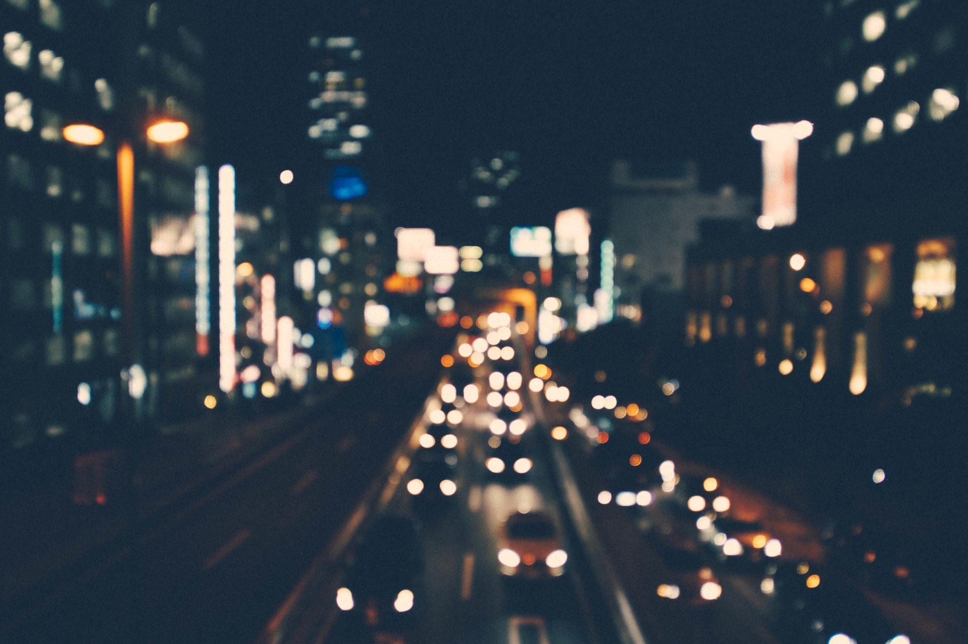traffico, agglomerazione, Marmellata, sfocatura, notte - Sfondi HD - Professor-falken.com