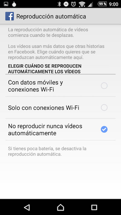 Come disattivare AutoPlay dei video su Facebook Android app - Immagine 4 - Professor-falken.com