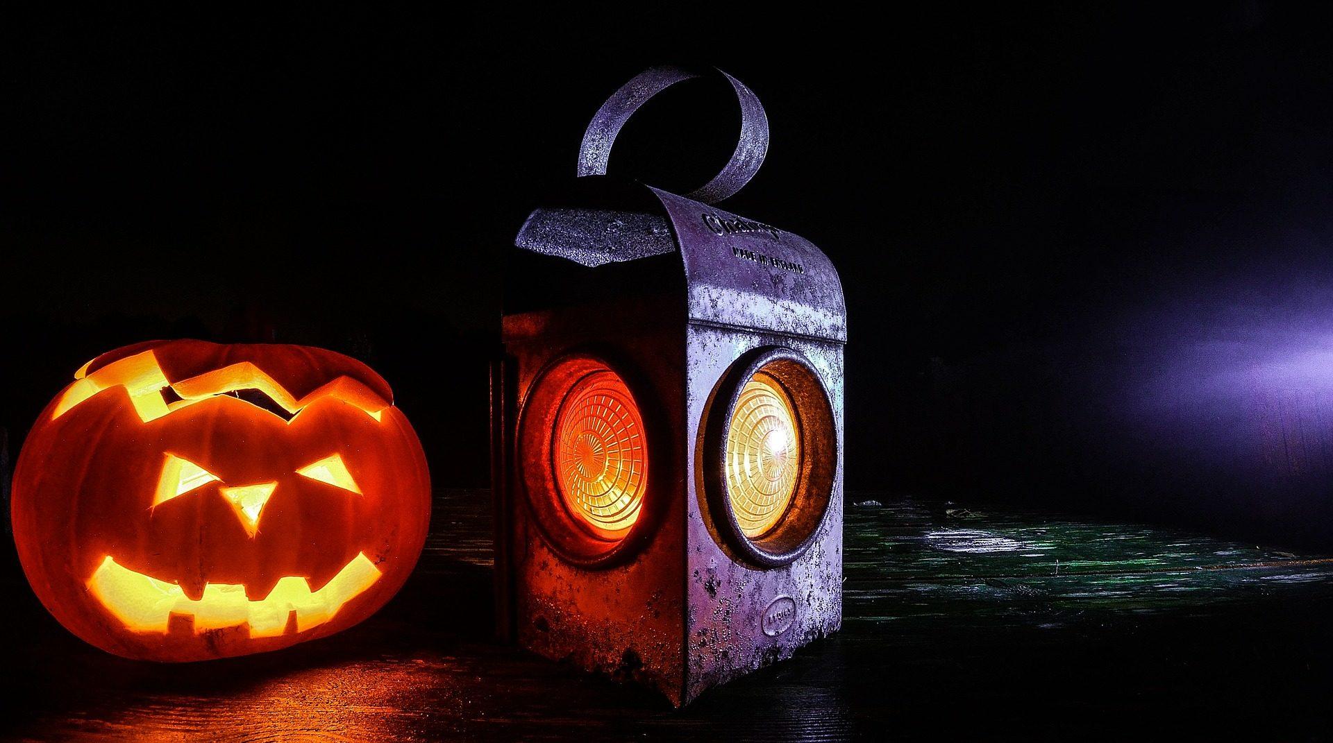 calabaza, encendida, farol, noche, tinieblas, halloween - Fondos de Pantalla HD - professor-falken.com