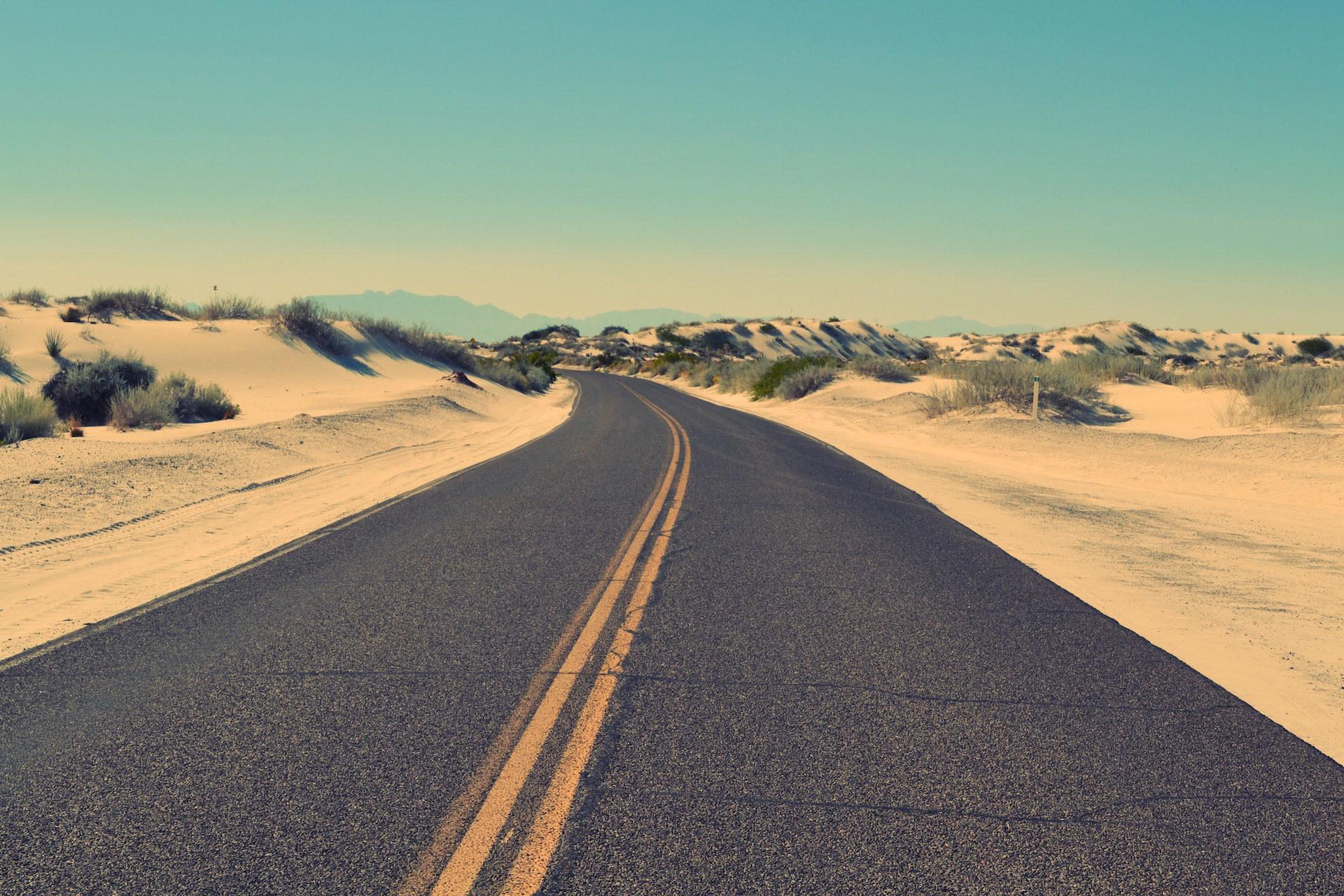 الطريق, الأسفلت, صحراء, الرمال, فقدت - خلفيات عالية الدقة - أستاذ falken.com