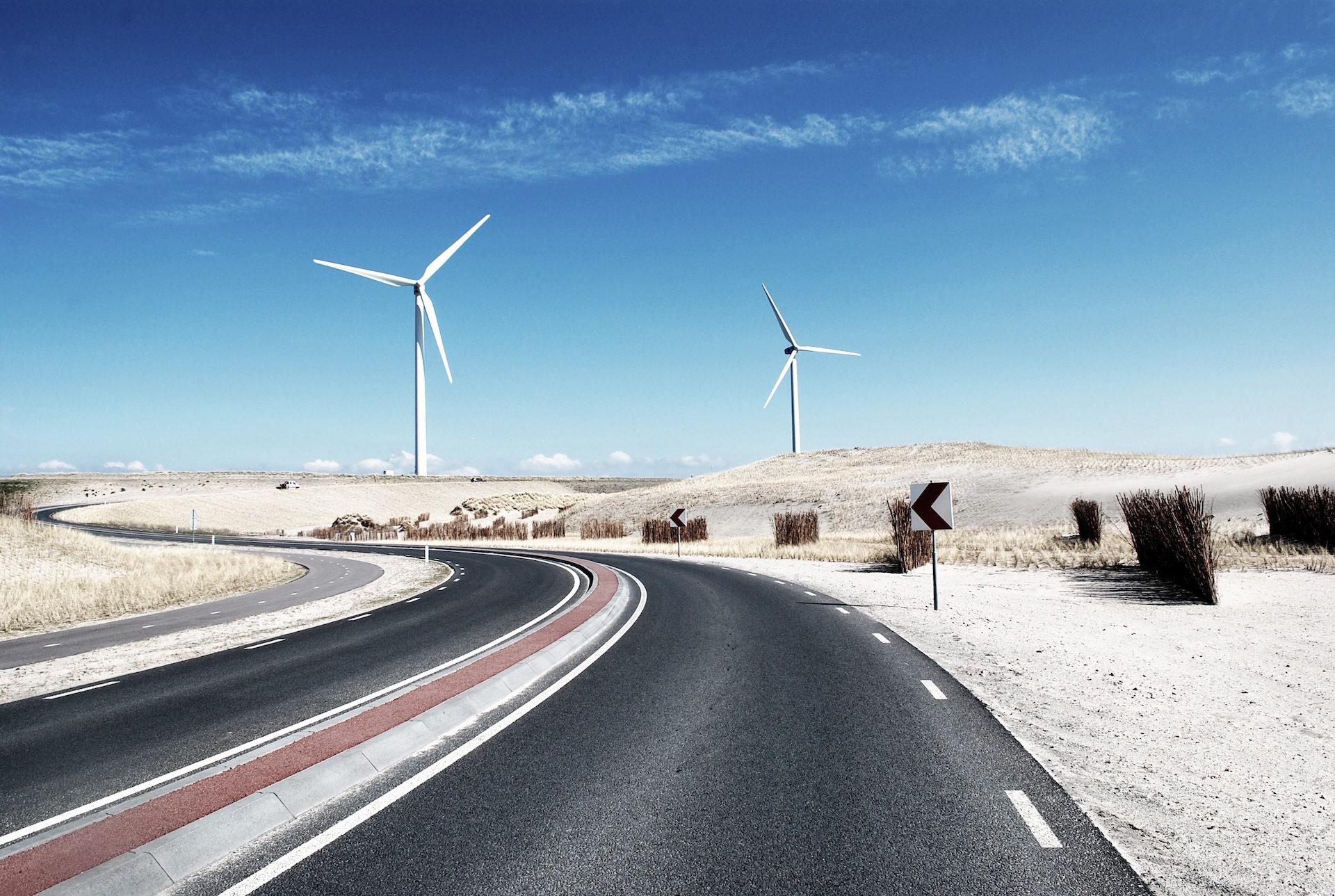 الطريق, ميلز, الرياح, eólico, السماء - خلفيات عالية الدقة - أستاذ falken.com