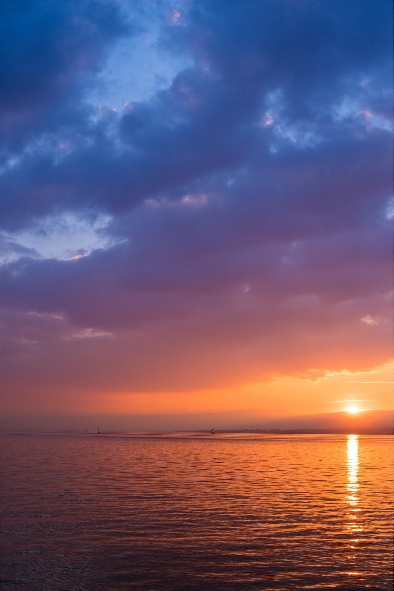 cielo, atardecer, nubes, colorido, mar - Fondos de Pantalla HD - professor-falken.com