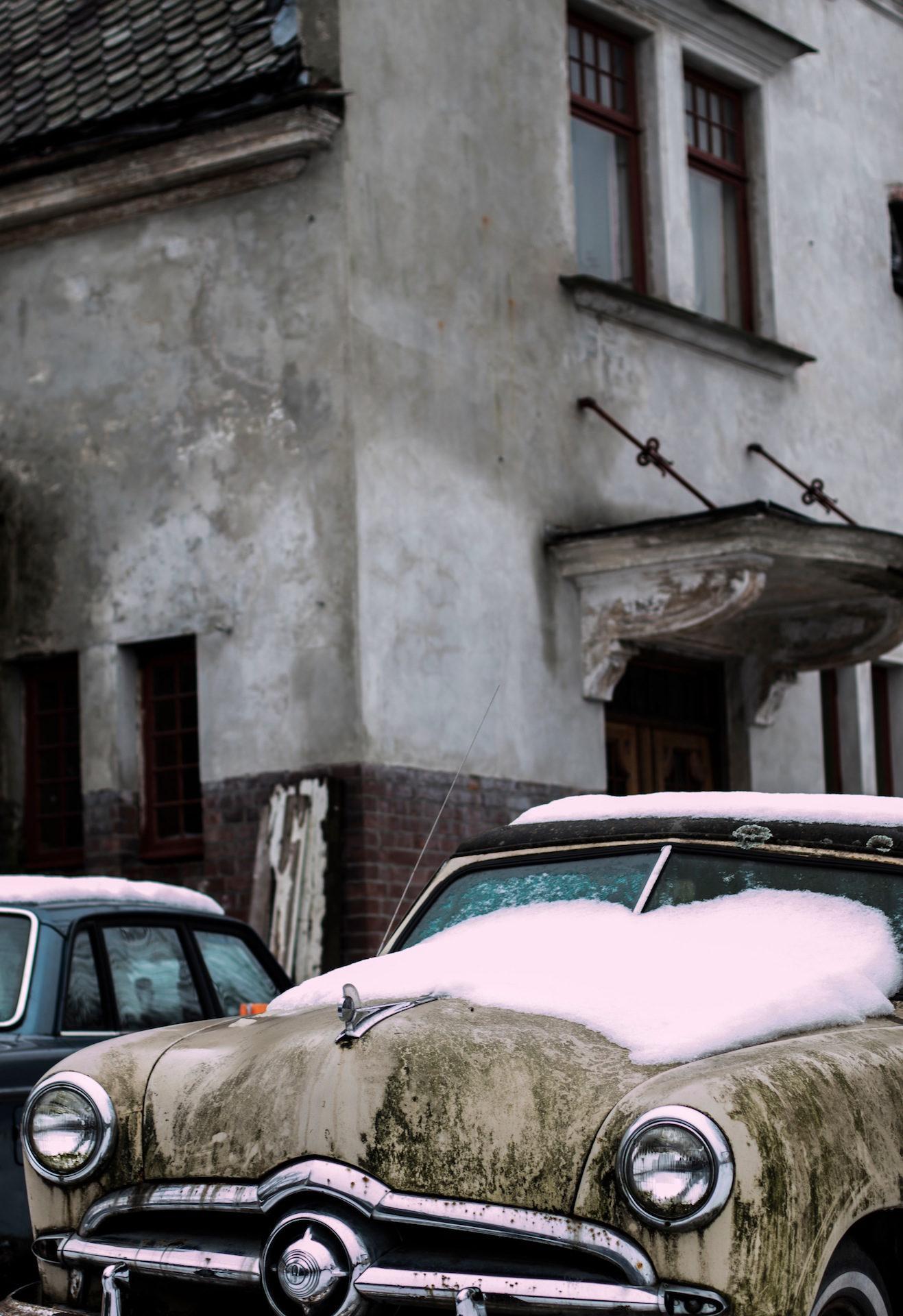 Auto, Schnee, Haus, alt, Jahrgang - Wallpaper HD - Prof.-falken.com