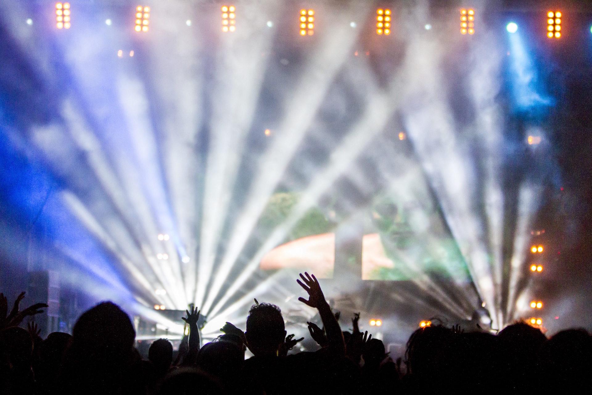 حفلة, أضواء, مراوح, الشعب, متعة - خلفيات عالية الدقة - أستاذ falken.com