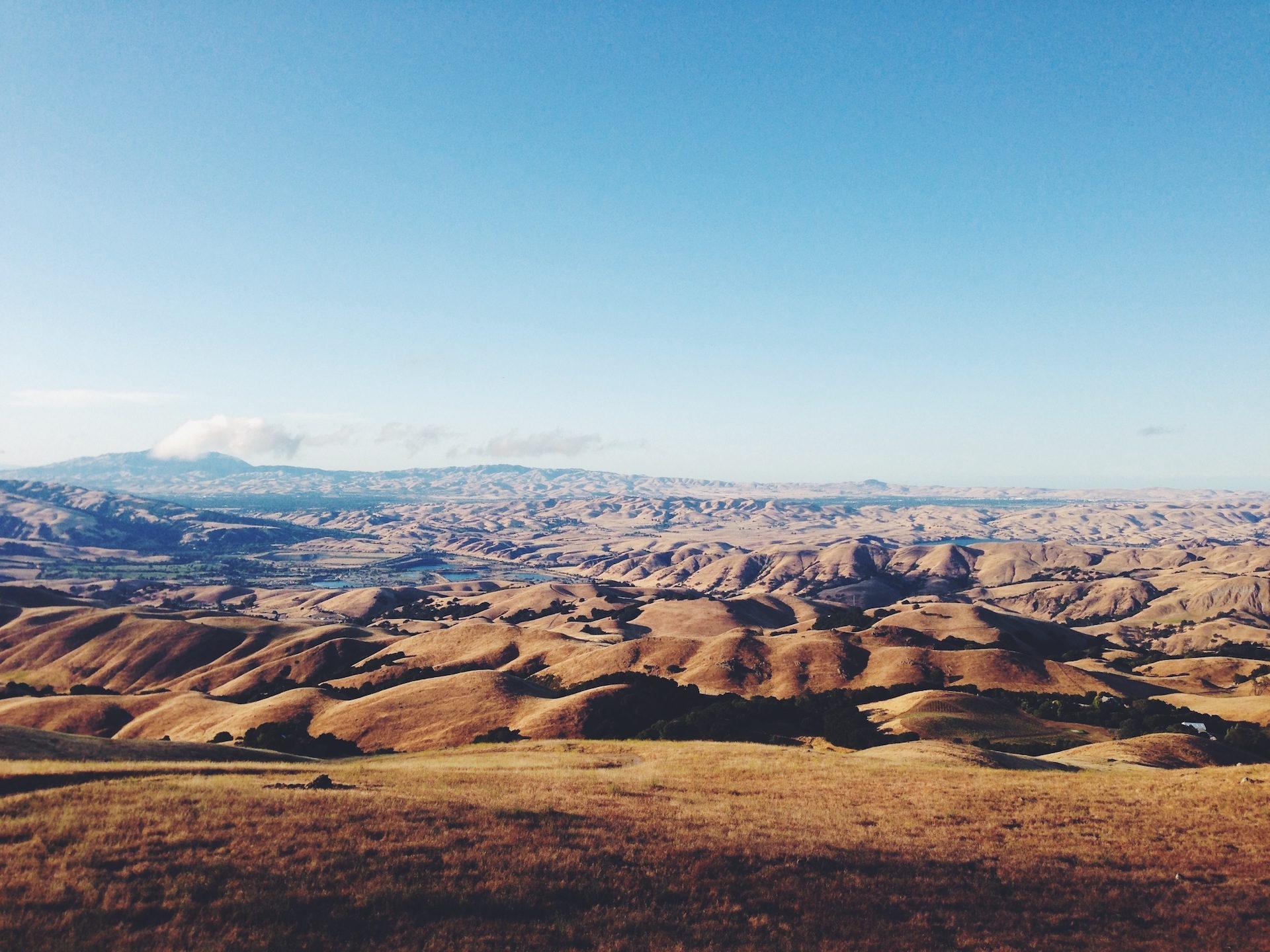 صحراء, الجبال, الأفق, السماء, السحب. - خلفيات عالية الدقة - أستاذ falken.com