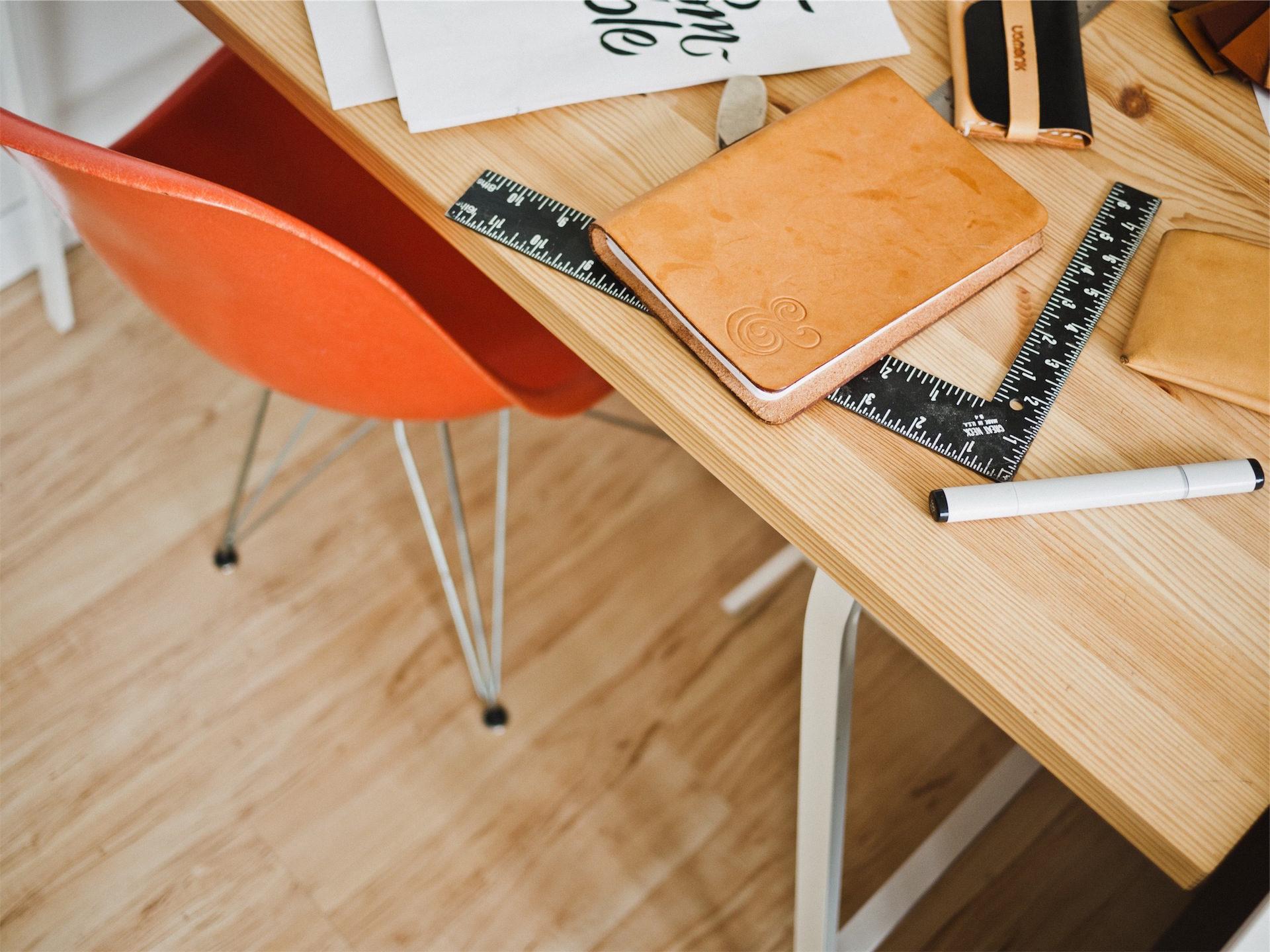Рабочий стол, Кресло, Таблица, Блокнот, правило - Обои HD - Профессор falken.com
