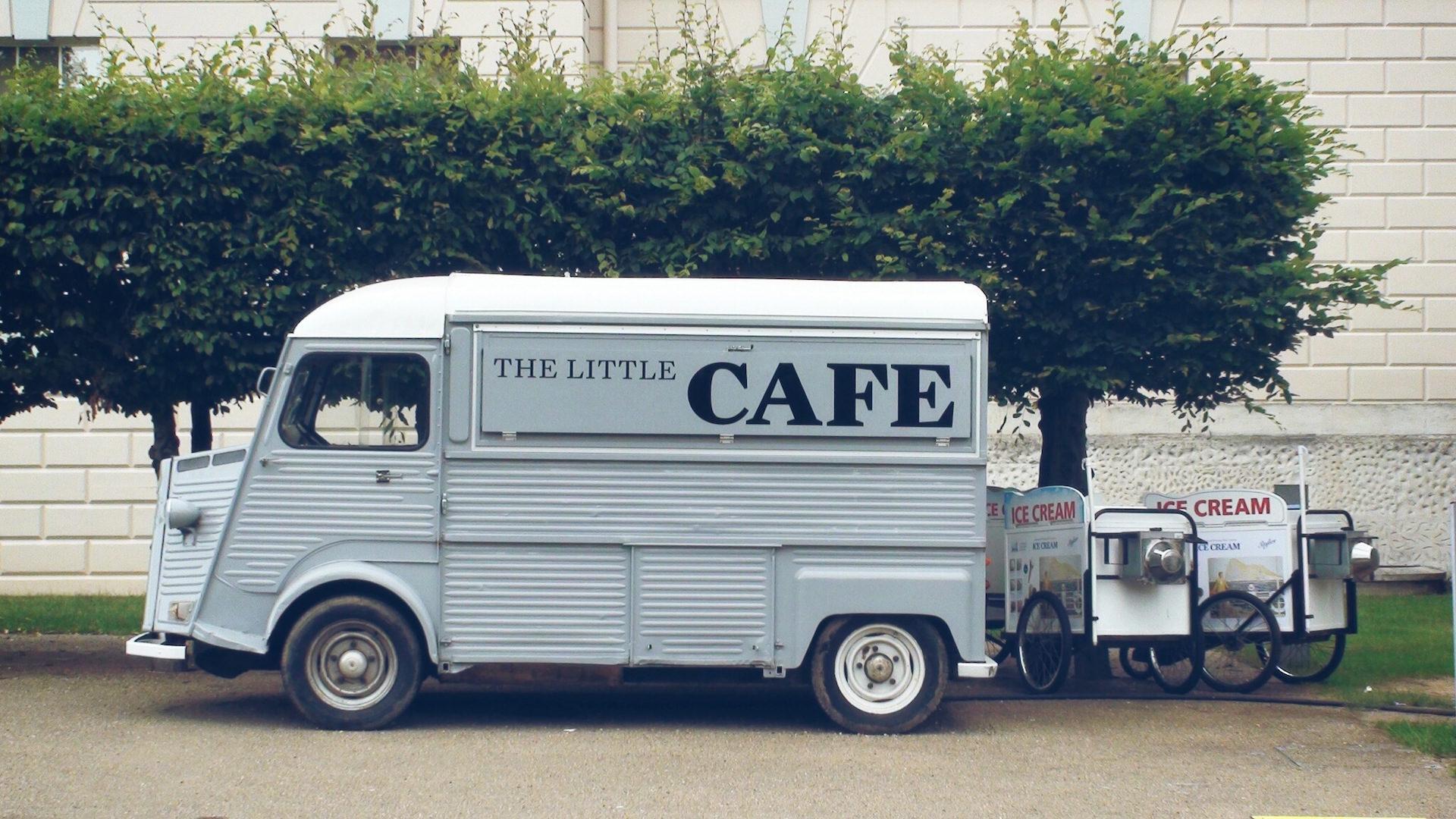 Van, Cafe, caffè, business, alberi - Sfondi HD - Professor-falken.com