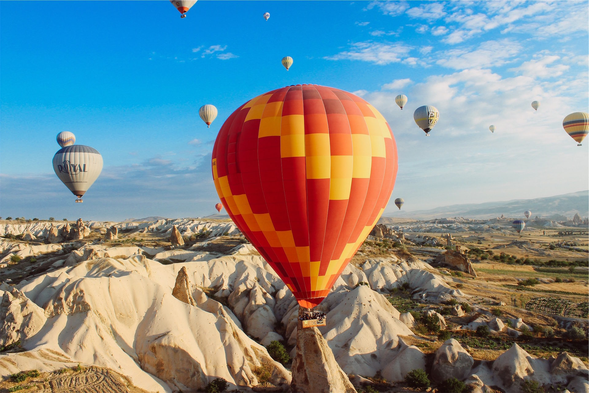 بالونات, الهواء, صحراء, طرق عرض, الجوي - خلفيات عالية الدقة - أستاذ falken.com