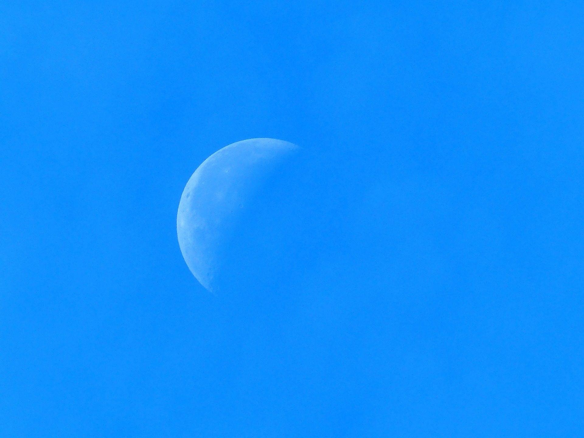 luna, cielo, diurna, astro, creciente - Fondos de Pantalla HD - professor-falken.com