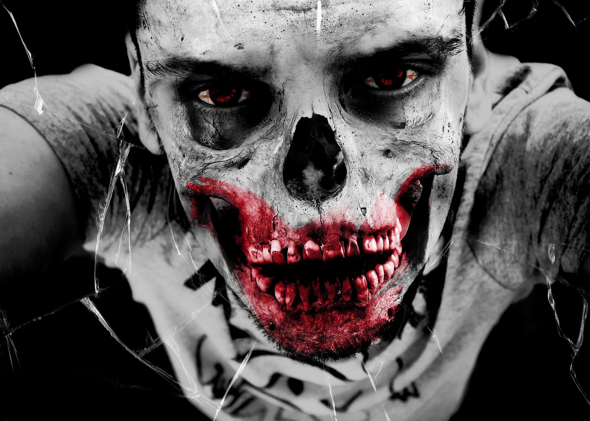 Monster, Zombie, Toten, Blut, Horror, finstere, Halloween - Wallpaper HD - Prof.-falken.com