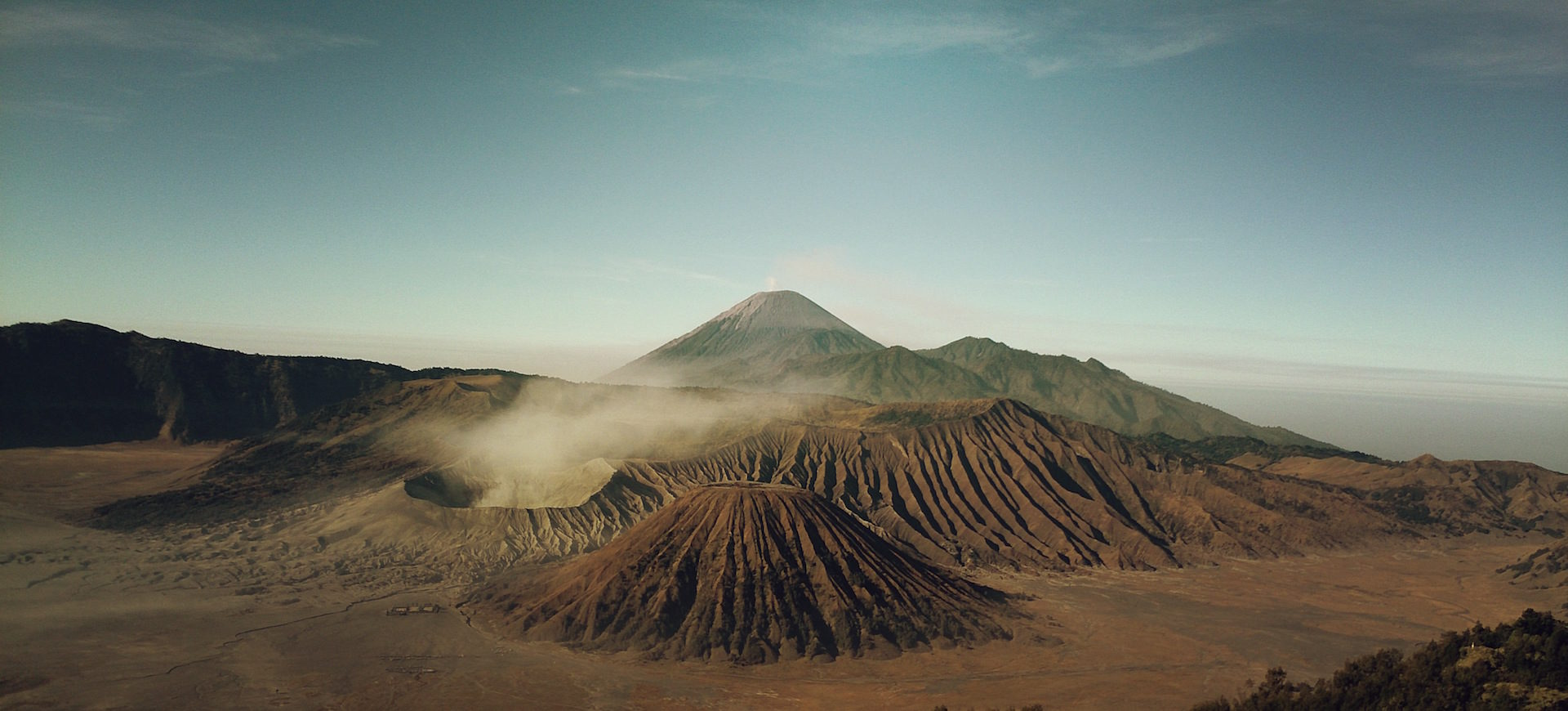 Montañas, 火山, 气体, 天空, 云彩 - 高清壁纸 - 教授-falken.com