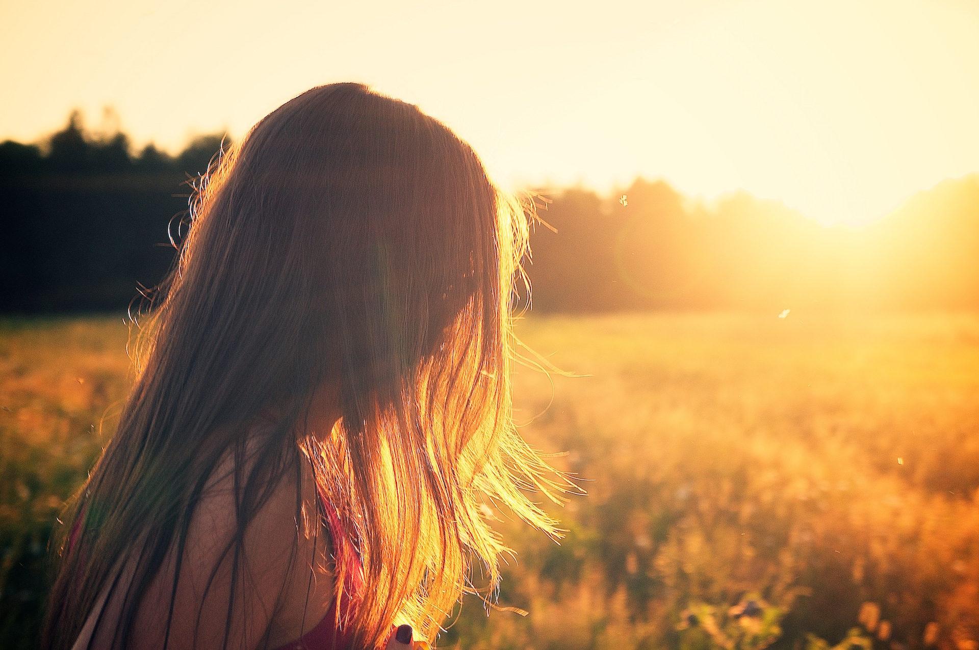 mulher, pelo, cabelo, Pôr do sol, luz - Papéis de parede HD - Professor-falken.com