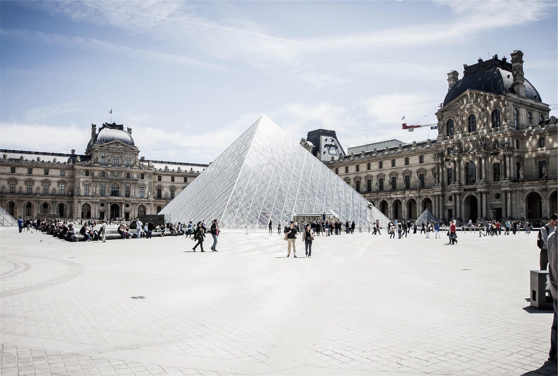 Пирамида, Музей, Париж, Лувр, Туризм, Франция - Обои HD - Профессор falken.com