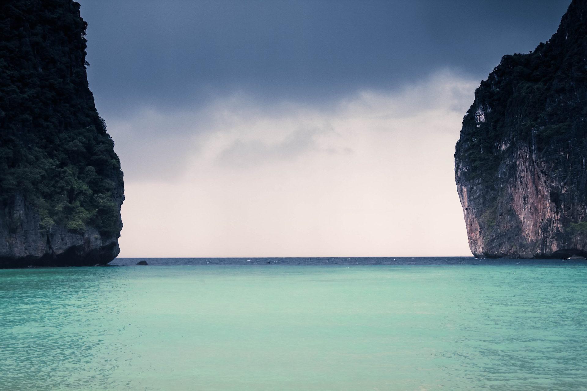 海滩, Montañas, 海, 振幅, 距离 - 高清壁纸 - 教授-falken.com