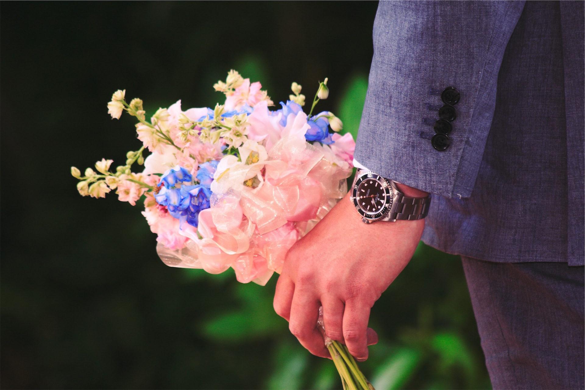 Blumenstrauß, Blumen, Uhr, Mann, Kostüm - Wallpaper HD - Prof.-falken.com