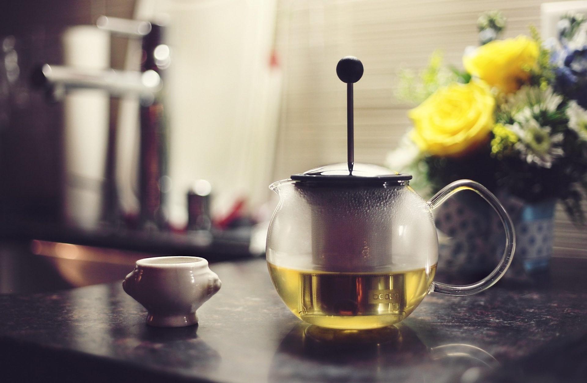 tetera, thé, boisson, perfusion, fleurs - Fonds d'écran HD - Professor-falken.com