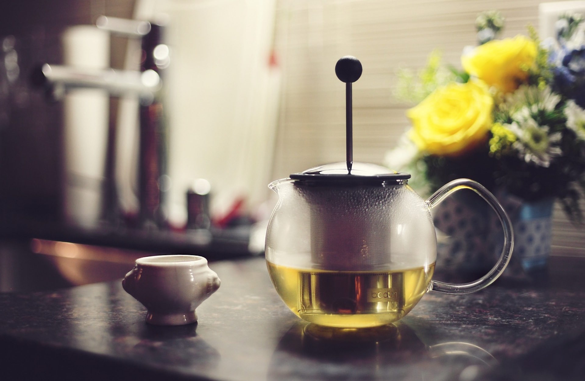 tetera, الشاي, شراب, ضخ, الزهور - خلفيات عالية الدقة - أستاذ falken.com