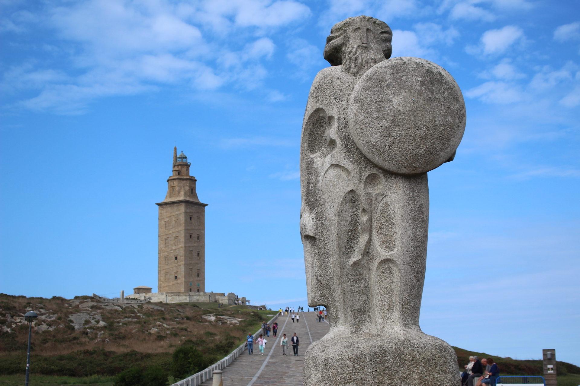 塔, 大力神, a coruña, 加利西亚, 天空 - 高清壁纸 - 教授-falken.com