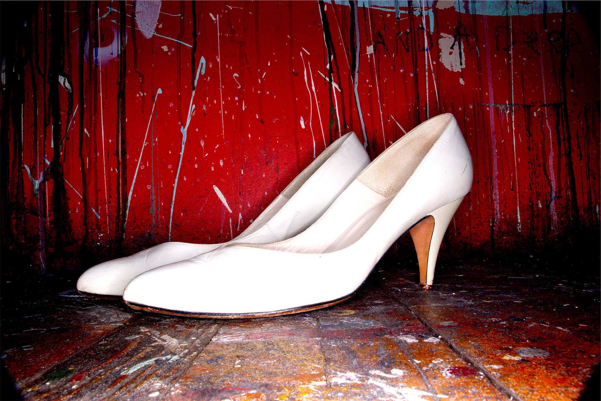 sapatos, sapatos de salto altos, pintura, manchas, Branco - Papéis de parede HD - Professor-falken.com