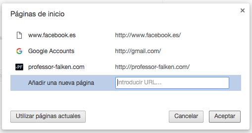 Как автоматически открыть любимые сайты, когда вы начинаете Chrome - Изображение 3 - Профессор falken.com