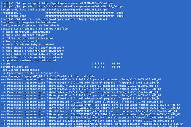 Cómo instalar FFMpeg en CentOS 6 y 7 - Image 1 - professor-falken.com
