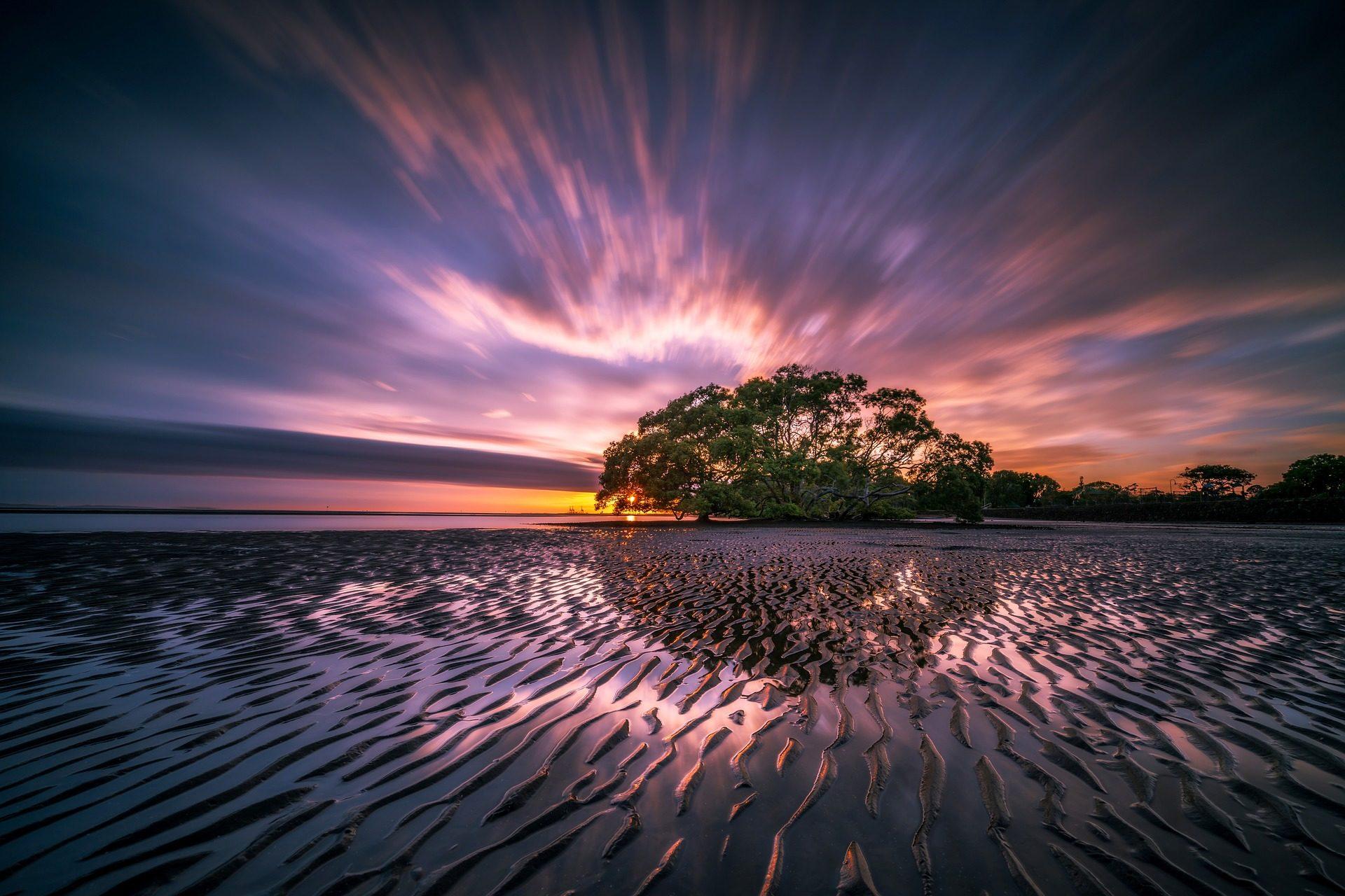 δέντρο, Laguna, νερό, Ουρανός, Μωβ, ομορφιά - Wallpapers HD - Professor-falken.com