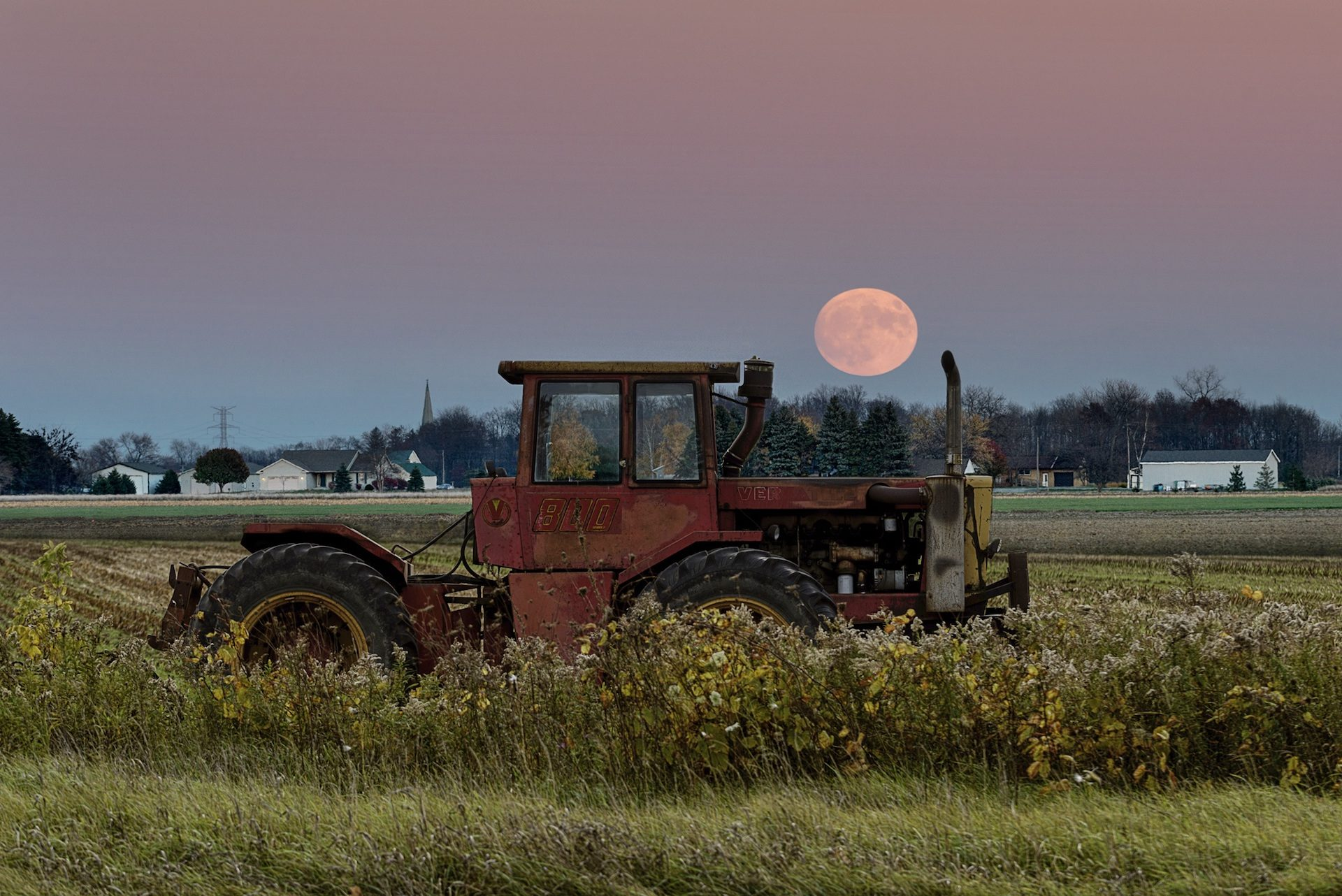 campo, trattore, azienda agricola, Supermoon, Luna, agricoltore - Sfondi HD - Professor-falken.com