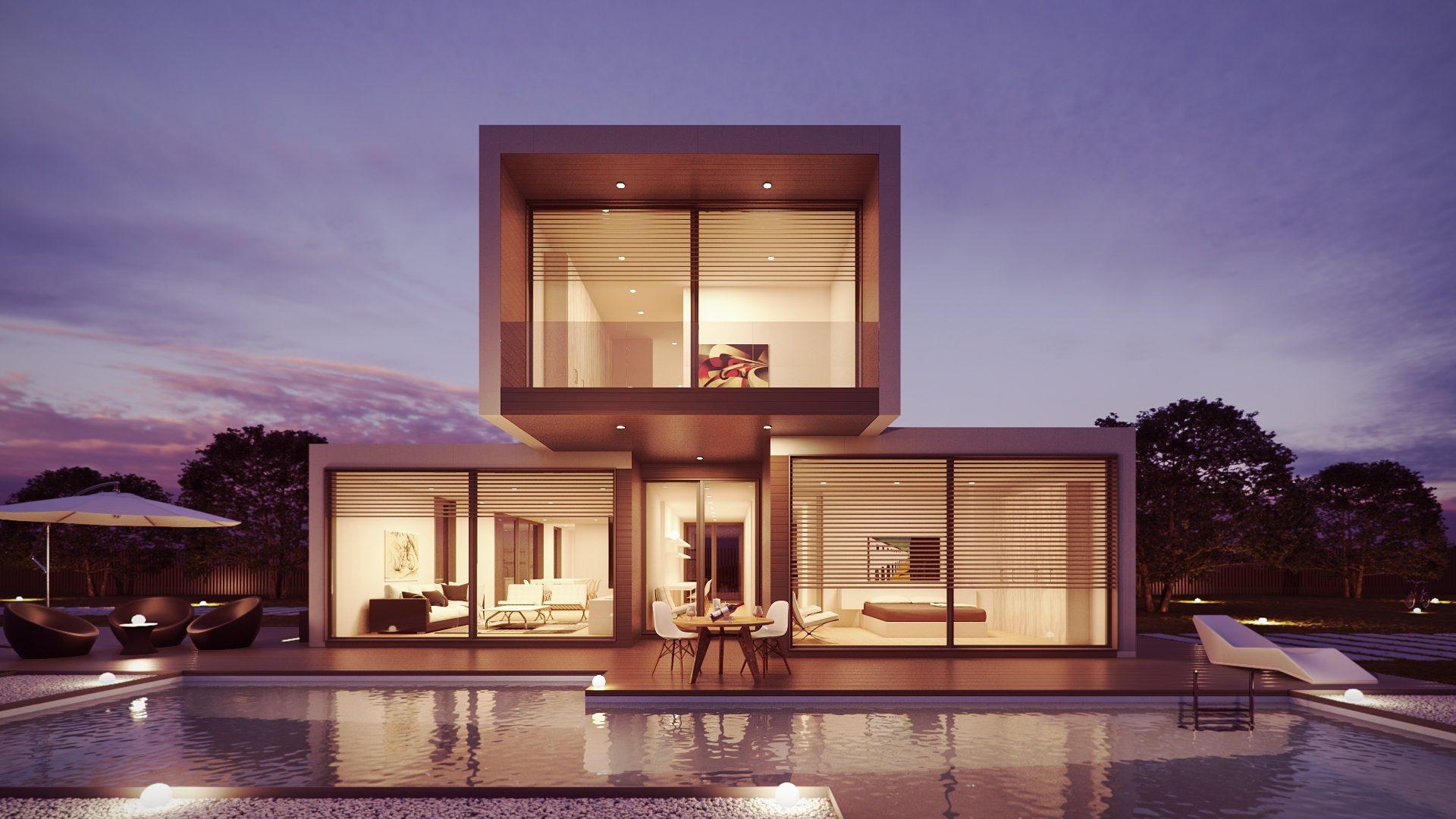Σπίτι, αρχιτεκτονική, módulos, πισίνα, Πολυτελή ξενοδοχεία - Wallpapers HD - Professor-falken.com