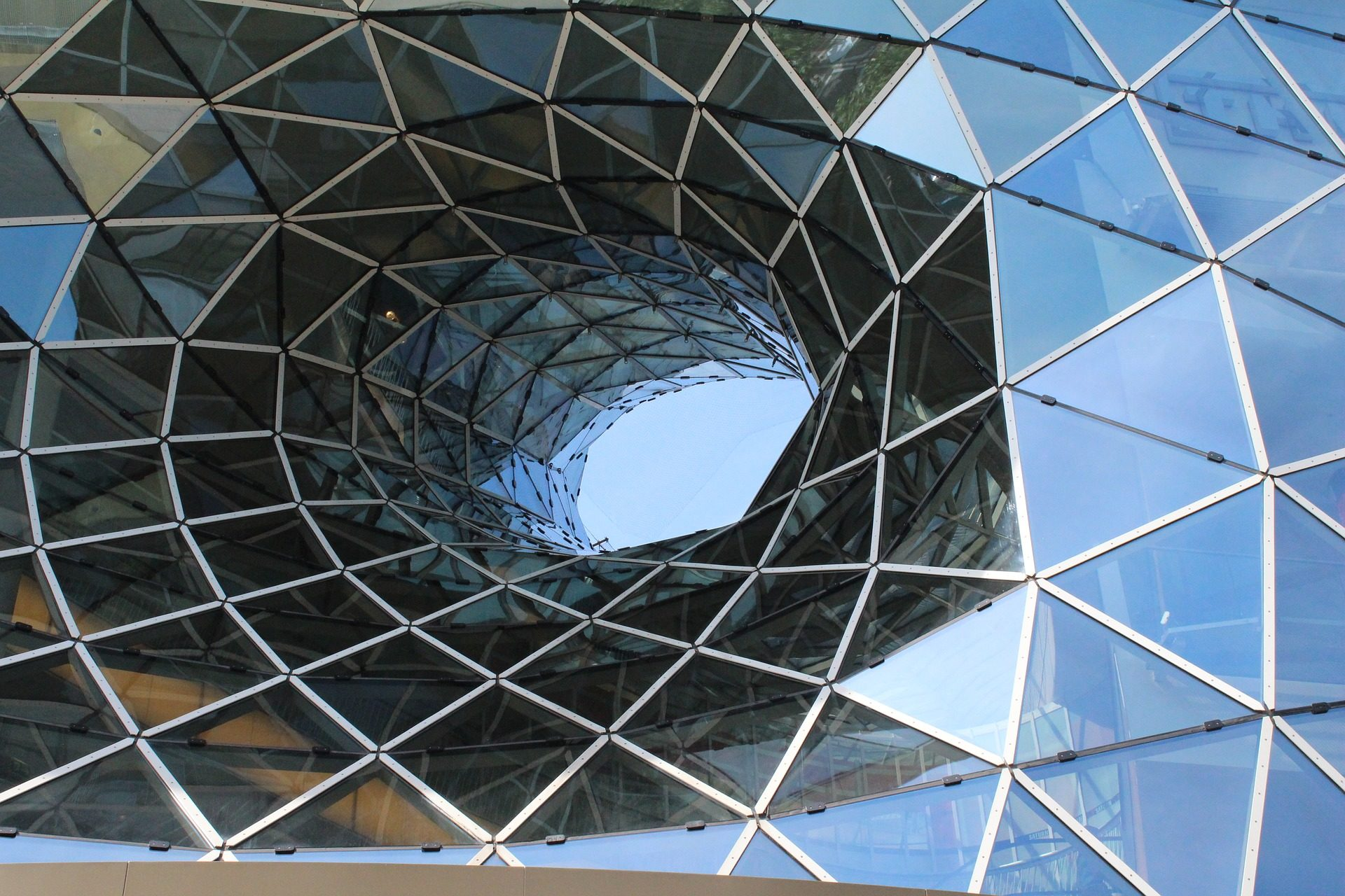 edifício, espelhos, cristais, vidro, Frankfurt, Alemanha - Papéis de parede HD - Professor-falken.com