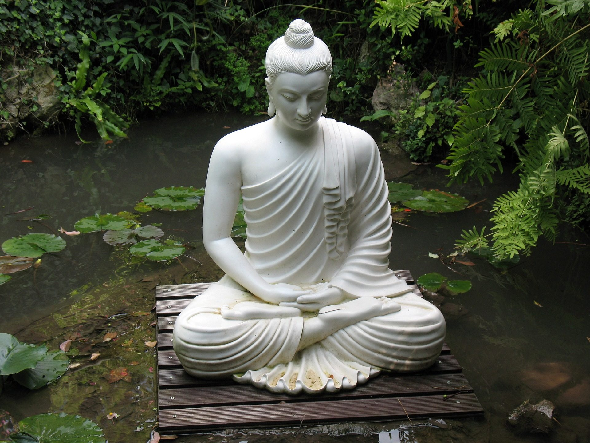 雕像, 佛, 花园, 加尔达, 意大利 - 高清壁纸 - 教授-falken.com