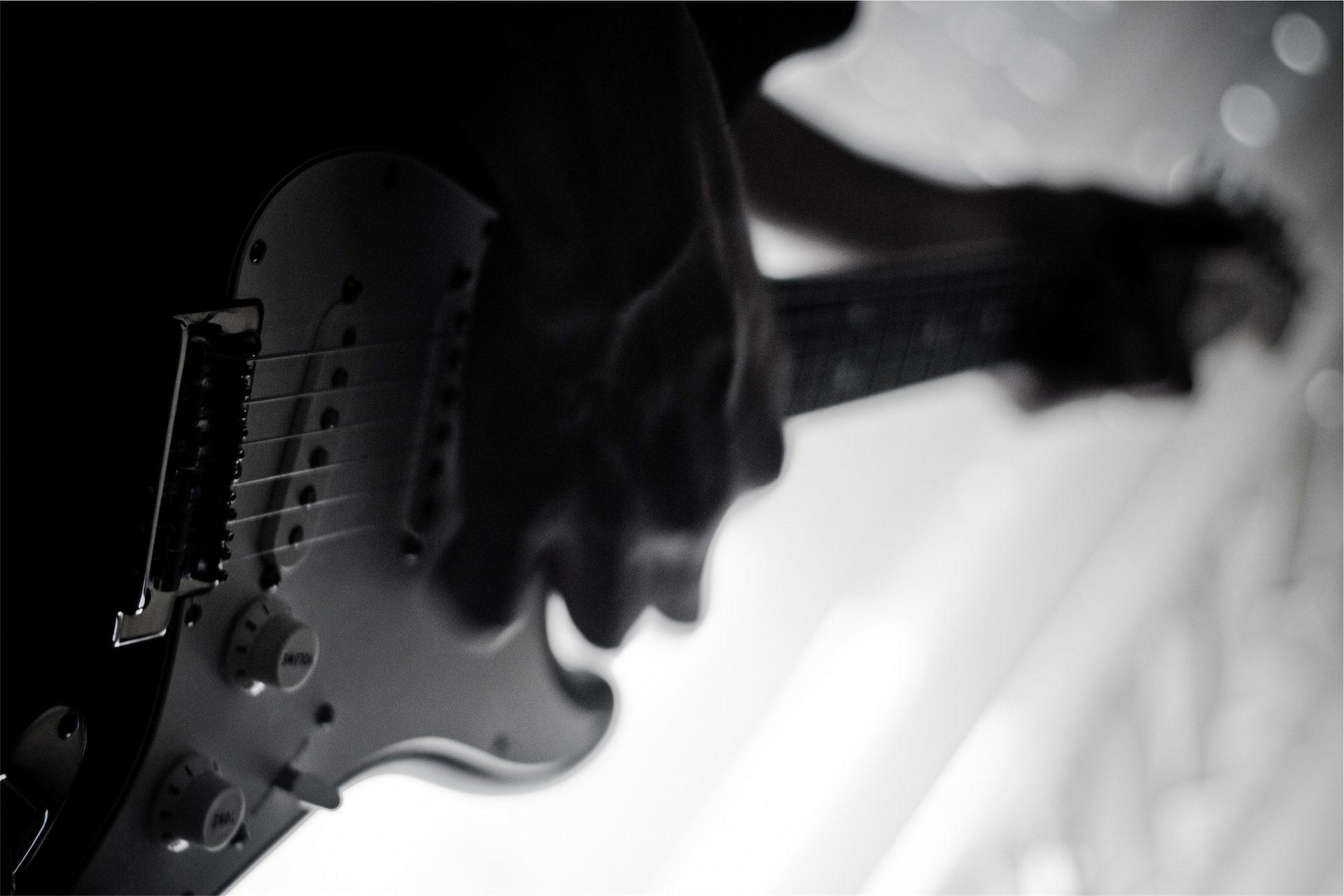 guitarra, eléctrica, músico, banda, en blanco y negro - Fondos de Pantalla HD - professor-falken.com