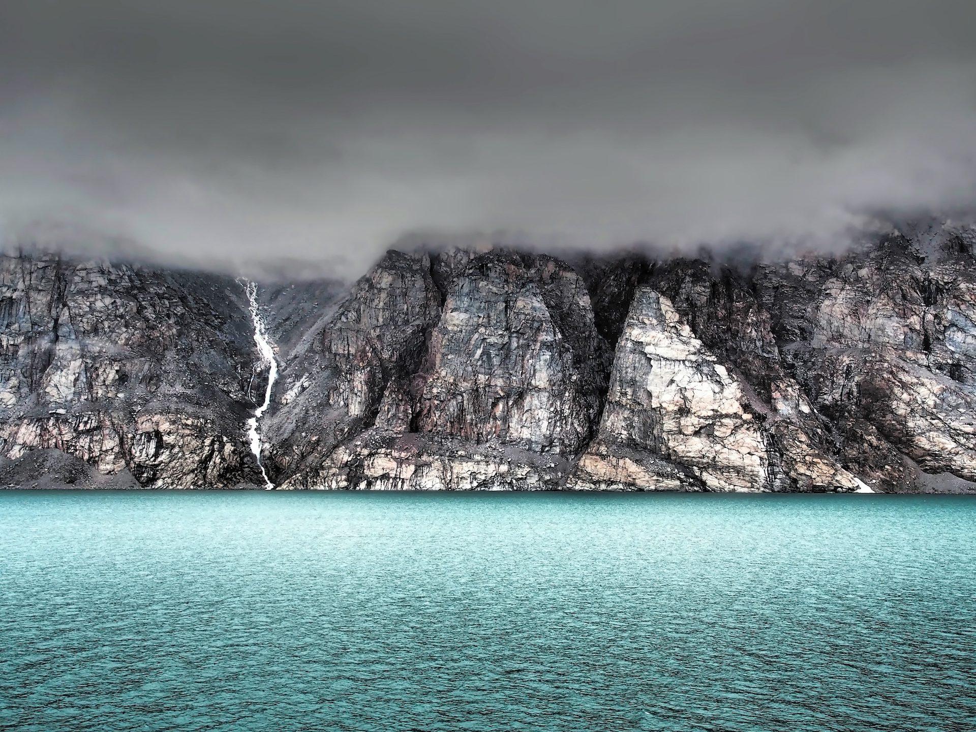 岛屿, Montañas, 水, 水晶, 巴芬湾, 加拿大 - 高清壁纸 - 教授-falken.com