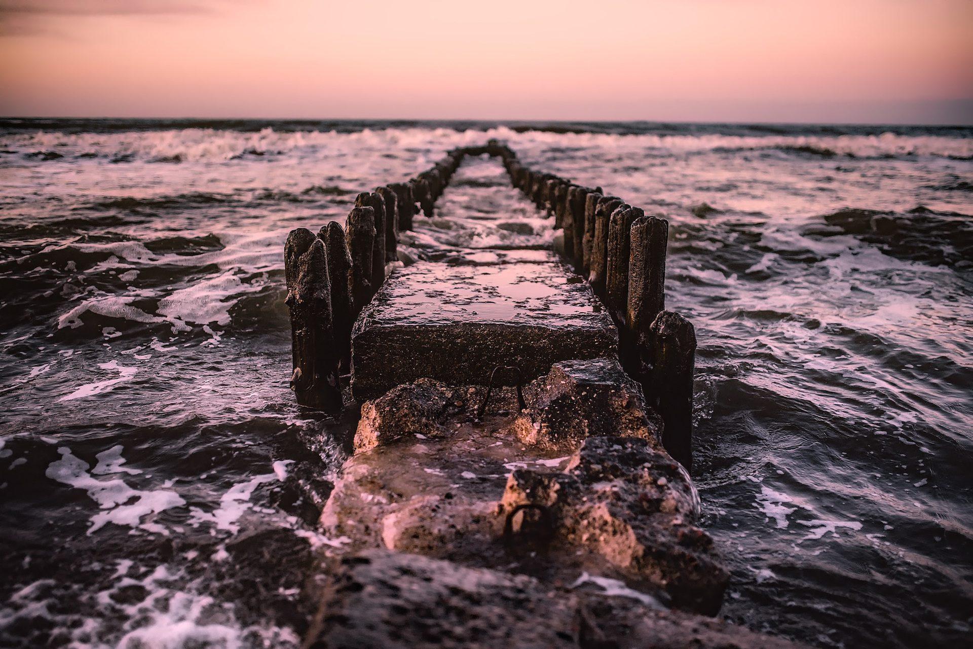 突堤桟橋, ポーランド, まま, relíquias, océano, 水, m海- HD の壁紙 - 教授-falken.com