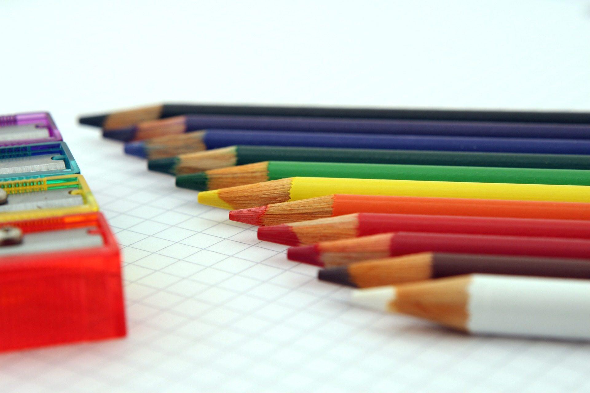 鉛筆, 色, 鉛筆削り, カラフルです, アドレス帳, ヒント - HD の壁紙 - 教授-falken.com
