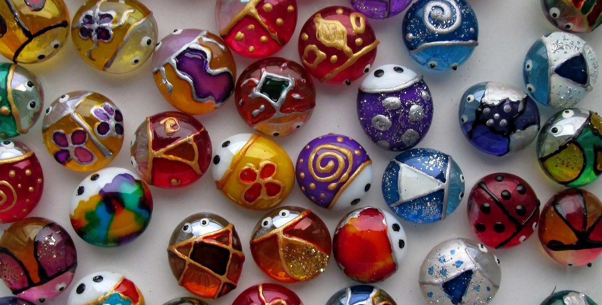 artesanato, Joaninhas, Cristal, vidro, besouros, pintura - Papéis de parede HD - Professor-falken.com