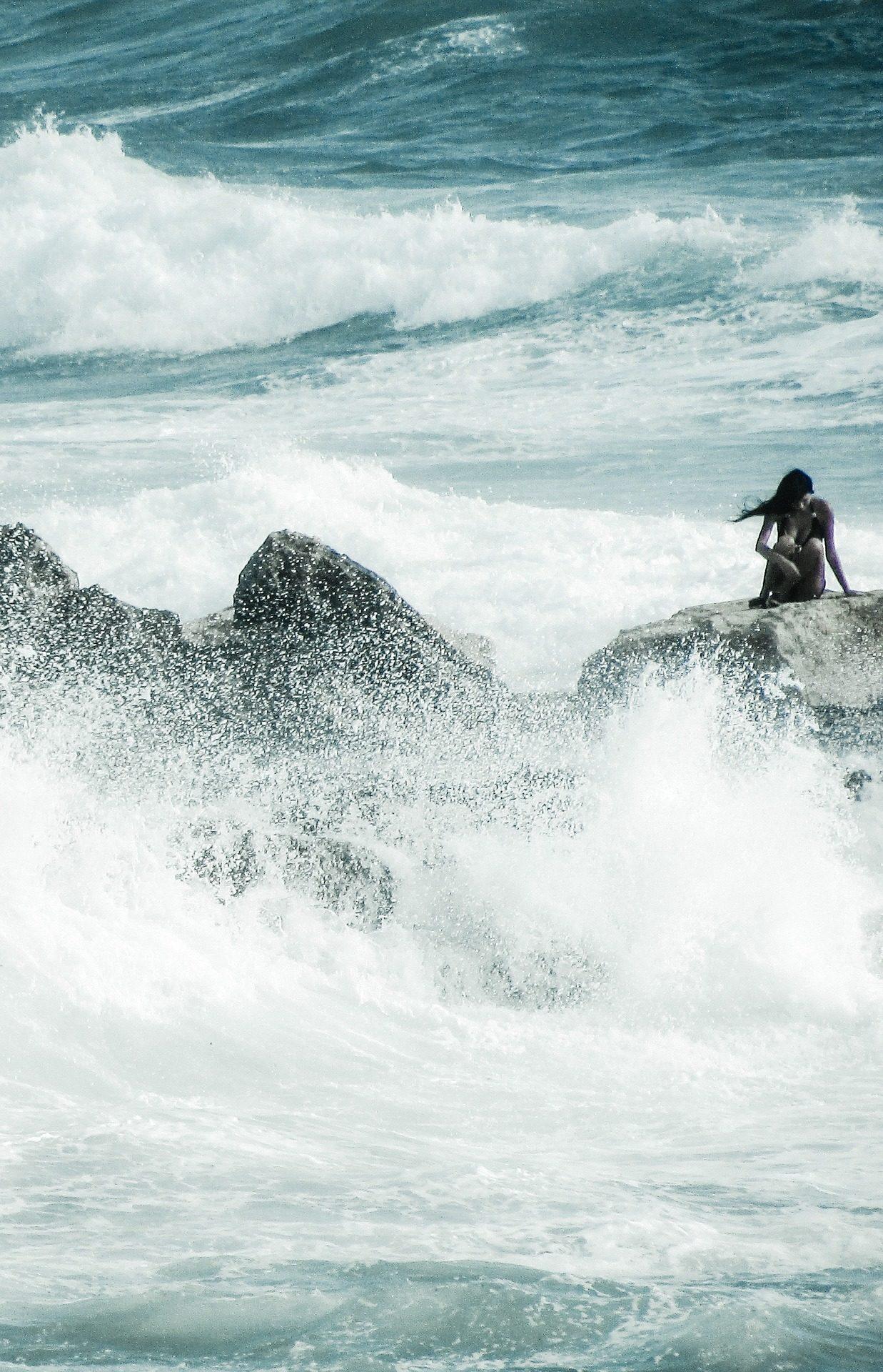 潮, 波, 海, 女性, ブラボー, 危険, リスク - HD の壁紙 - 教授-falken.com
