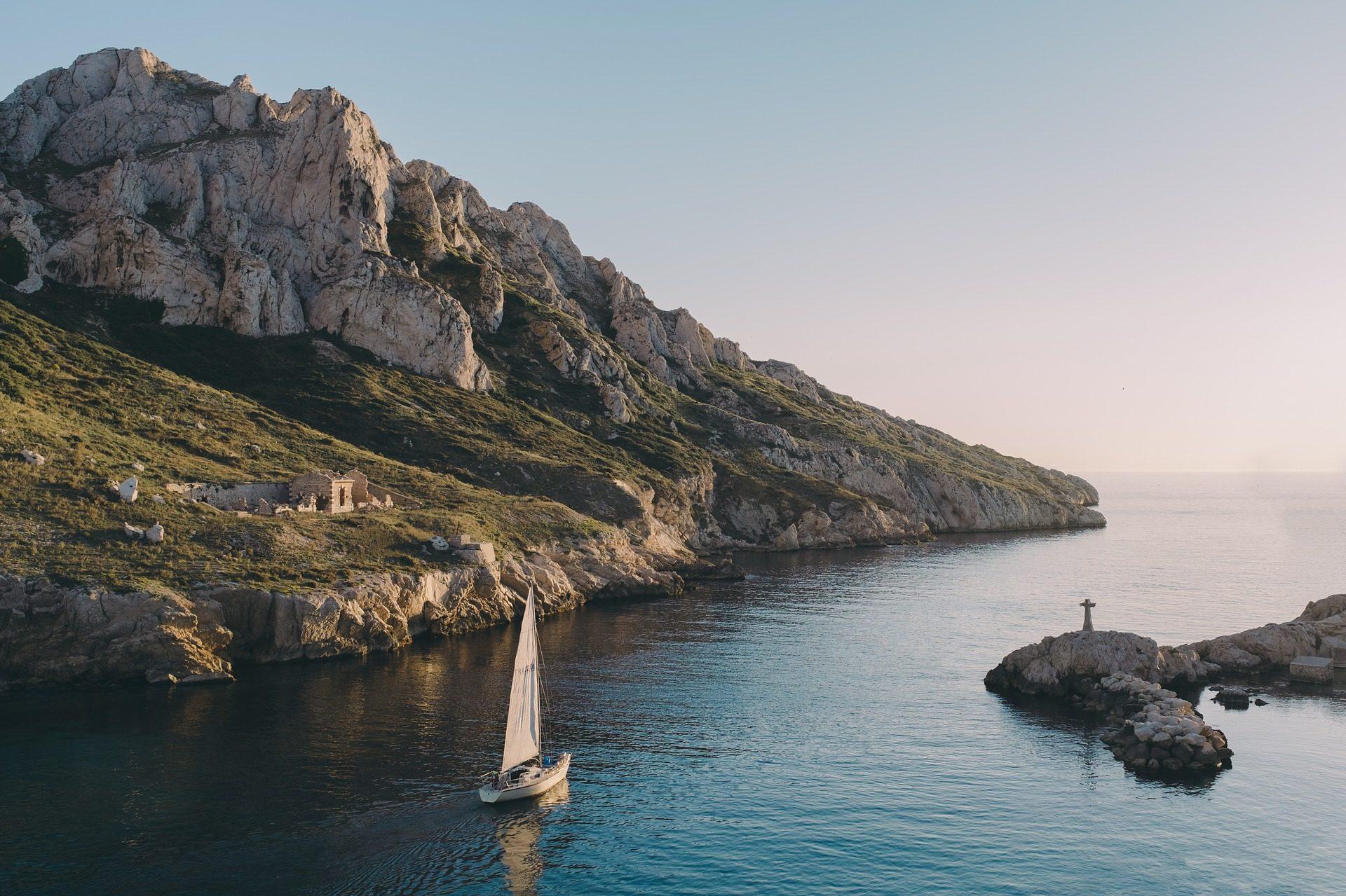 Βουνό, Νησί, βάρκα, Θάλασσα, Πλοήγηση - Wallpapers HD - Professor-falken.com