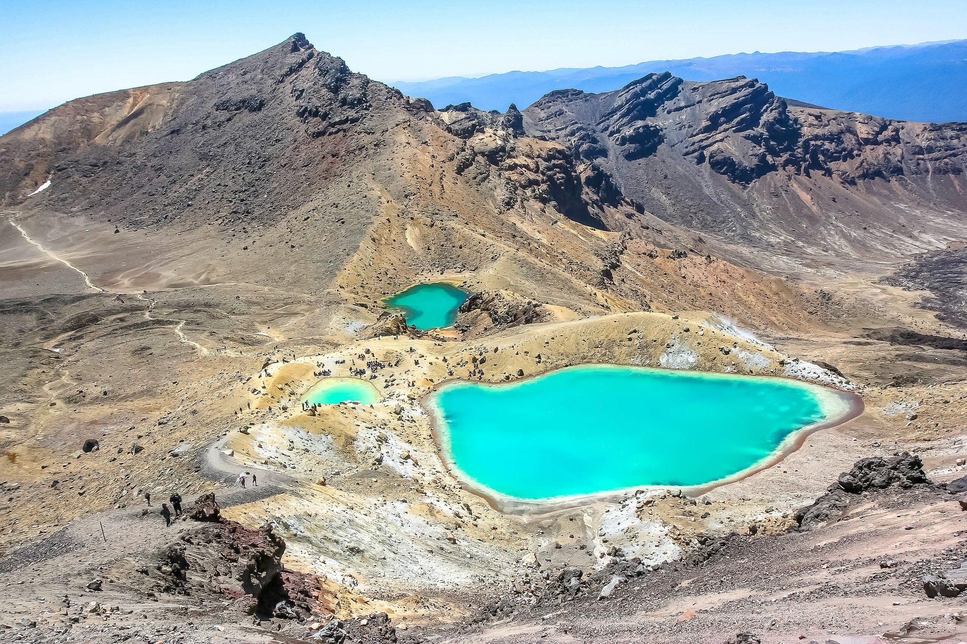 Montañas, 湖泊, 绿松石, 沙漠, 游客 - 高清壁纸 - 教授-falken.com