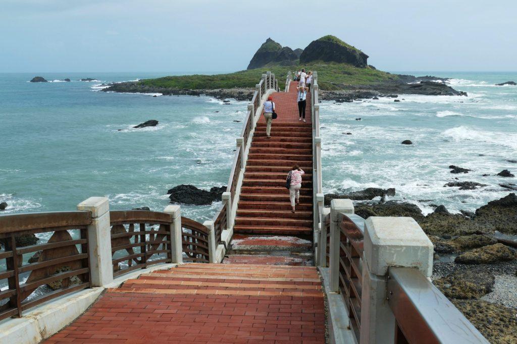 puente, mar, océano, pacífico, sanxiantai, taiwan, 1612010806