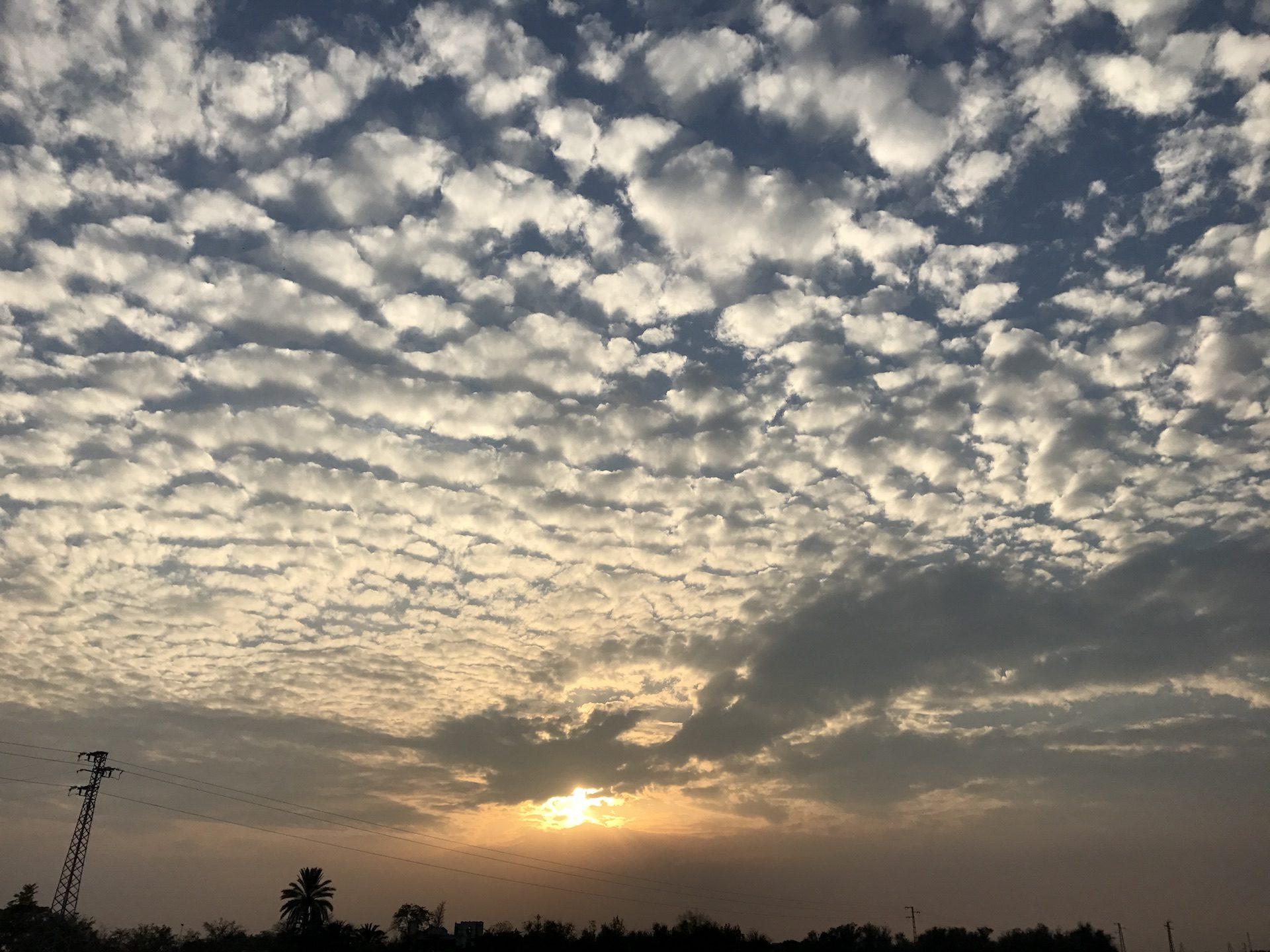 Sole, Tramonto, nuvole, Nubi cumuliformi, Cielo - Sfondi HD - Professor-falken.com