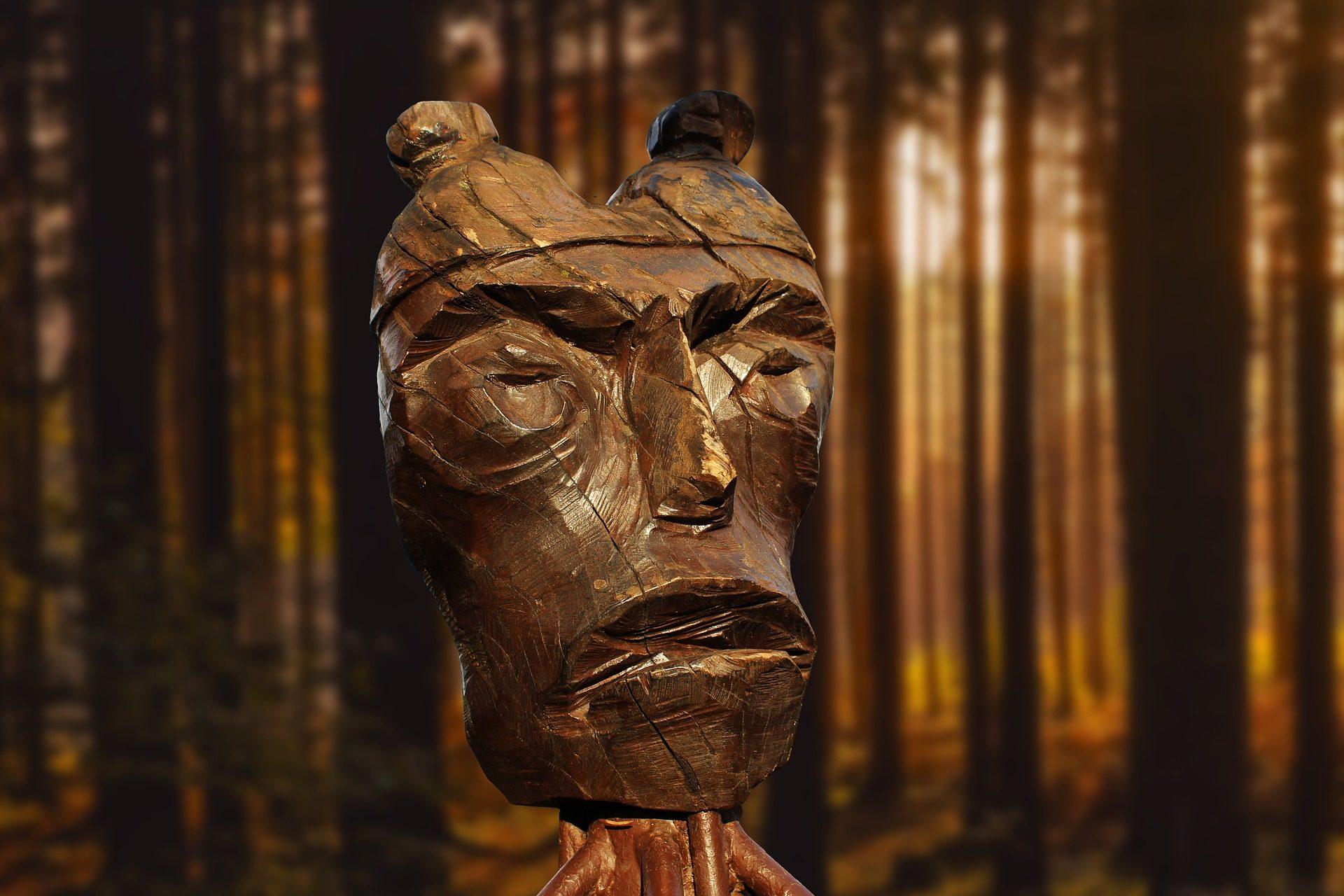 Totem, bois, visage, Forest, arbres - Fonds d'écran HD - Professor-falken.com